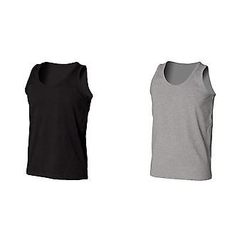 Skinni Fit Mens Stretch Tank Top / Vest