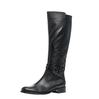 Gabor Karma Long Leather Boots In Black