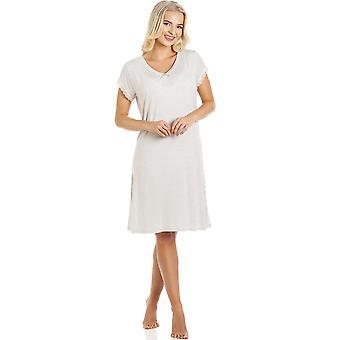 Camille Женская точка с короткими рукавами Ночное платье