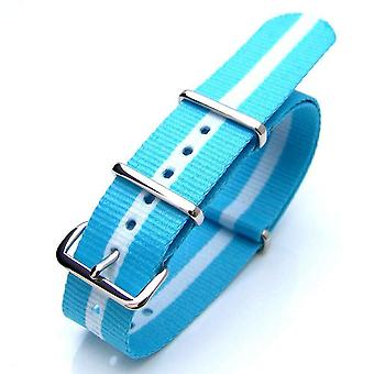 Strapcode n.a.t.o watch strap 20mm or 22mm nato argentina special edition nylon watch strap polish (argentina, greece, scotland)