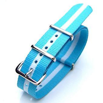 Strapcode n.a.t.o urrem 20mm eller 22mm nato argentina special edition nylon urrem polish (Argentina, Grækenland, Skotland)
