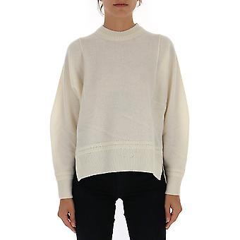 Zucca Zu99kn16302 Women's White Wool Sweater