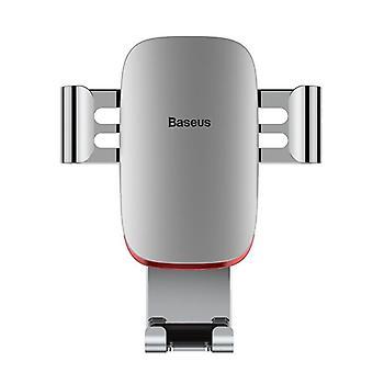Baseus metallo gravità auto blocco auto supporto portaaria stand per iphone 8 xiaomi telefono cellulare