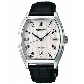 Seiko Uhren Srpd05j1 Presage weißes Zifferblatt, Silber & schwarz Leder automatische Men's Uhr