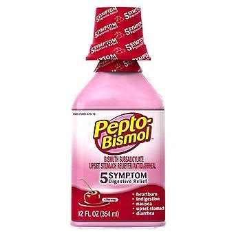 Pepto-bismol 5 symptom digestive relief, cherry, 12 oz
