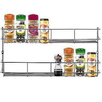 Kabalo rostfritt stål 2 Tier Spice ört Jar Rack arrangören Stand matlagning för kök skåp dörr Wall Mount förvaringsenhet