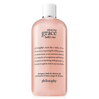 Philosophy Amazing Grace Ballet Rose Shampoo, Bath and Shower Gel 240ml