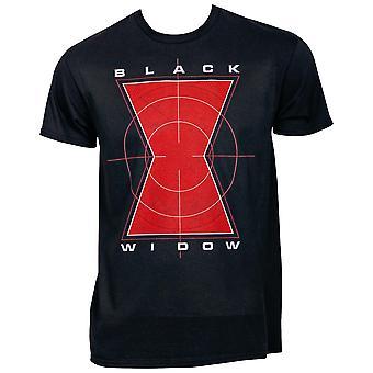 The Black Widow Symbol in Crosshairs T-Shirt