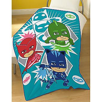 PJ Masks Time To Be A Hero Official Fleece Blanket