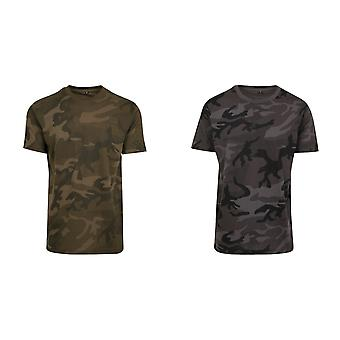 Build Your Brand Mens Camouflage Print T-Shirt