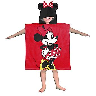 Minnie Mouse Childrens/Kids Hooded Poncho Towel