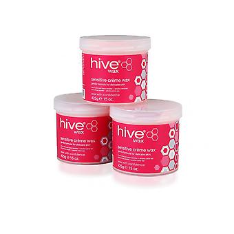 Hive of Beauty Waxing Enthaarung Haarentfernung Sensitive Creme Wax Lotion 3For2