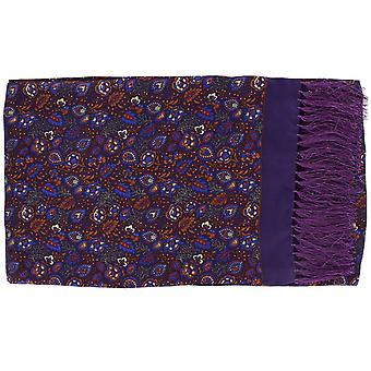 Michelsons of London Garden Floral Silk Scarf - Purple