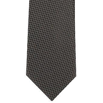 מייקלסון של לונדון מיקרו חצי פוליאסטר עניבה בראון