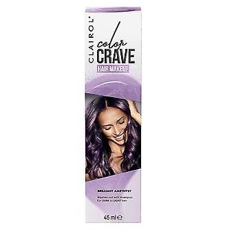 Clairol Color Crave Hair Make Up Washes Out with Shampoo 45ml Brilliant Amethyst