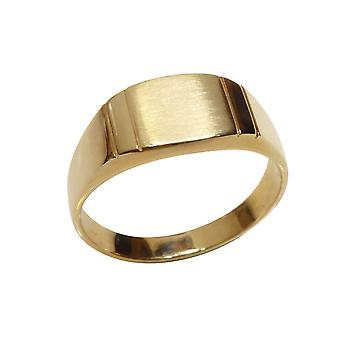 Christian 14 carat yellow gold cachet ring