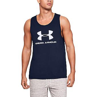 Under Armour Mens Sportstyle Logo Wicking Fitness Tank Top