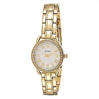 Guess W0837L2 Fifth Ave Round Analog Beige Dial Ladies Watch