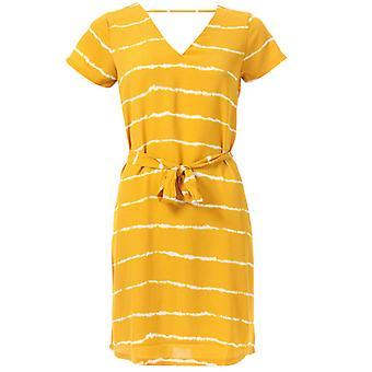 Women's Only Nova Lux Deep V Dress in Gold