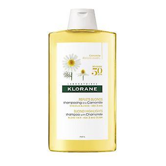 Shampoo de camomila klorane para cabelo loiro 400ml