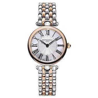 Frederique Constant Women's Art Déco | Stalen armband met twee tonen | Mother Of Pearl FC-200MPW2AR2B Horloge