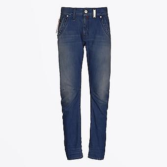 HIGH  - Havoc - Cotton Straight Leg Jeans - Blue Denim
