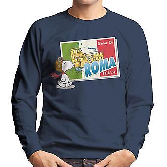 Peanuts Snoopy In Roma Italy Men's Sweatshirt