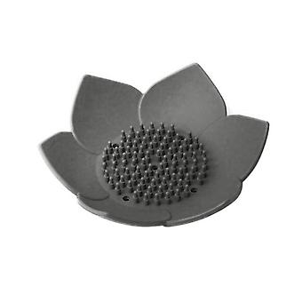 Portable Lotus Shape Soap Draining Plate Holder for Bathroom Accessories