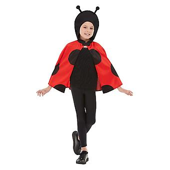 Girls Ladybird Hooded Cape Fancy Dress Accessory
