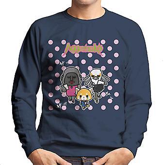 Aggretsuko Gori Washimi Retsuko Pink Polka Dots Men's Sweatshirt