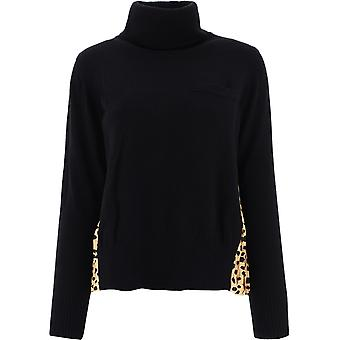 Sacai 05226015 Femme-apos;s Pull en laine noire