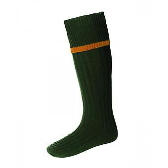 House of Cheviot Country Socks Estate ~ Spruce & Ochre
