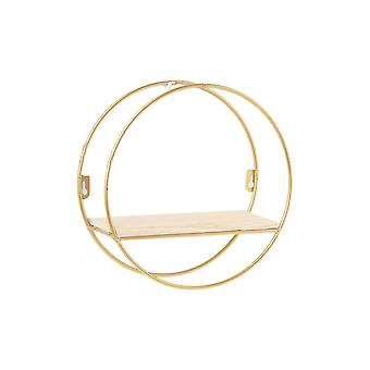 Creative Nordic Wall Hanging Shelf Round Small Gold