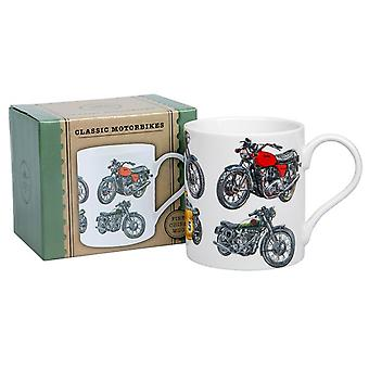 Klassieke motor fietsen Fine Bone China Mok - Boxed Gift Item