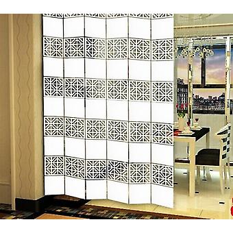 Laser Engraved Craft Hanging Folding Partition Screen/room Divider Panels 6pcs