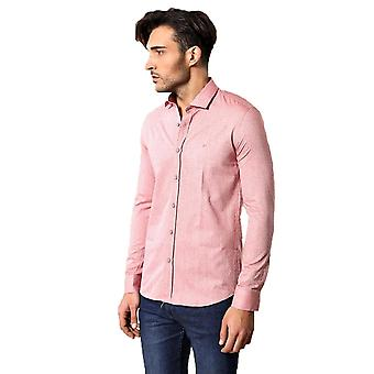 Pink cotton shirt for men | wessi