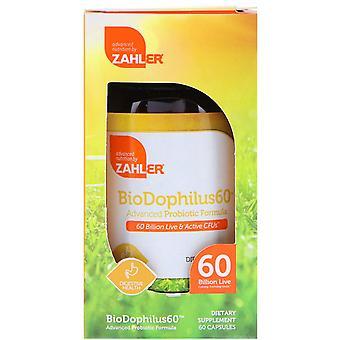 Zahler, BioDophilus60, Geavanceerde Probiotische Formule, 60 miljard CFU, 60 Capsules