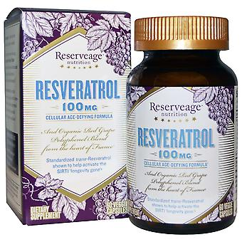 ReserveAge Voeding, Resveratrol, 100 mg, 60 Veggie Capsules
