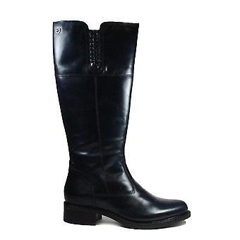 Tamaris 25565 Navy Leather Womens Long Leg Boots