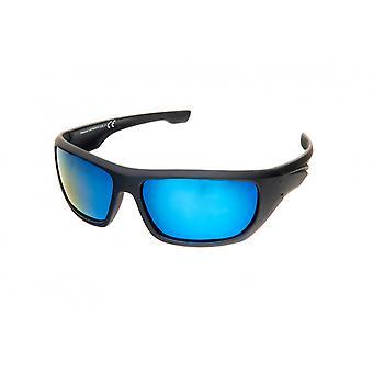 Sonnenbrille Unisex    rechteckig schwarz/blau (PZ20-104)