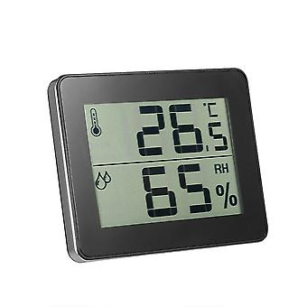Household Electronic Digital Thermometer and Hygrometer Black