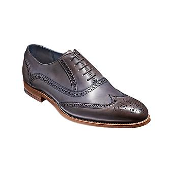 Barker Valiant - Grey Hand Painted  | Mens Handmade Leather Oxford Brogues | Barker Shoes