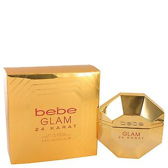 Bebe Glam 24 Karat Eau De Parfum Spray By Bebe 3.4 oz Eau De Parfum Spray