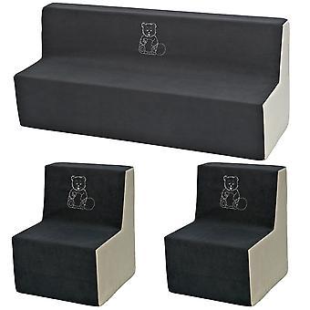Kleinkind Möbel Set verlängert grau & beige