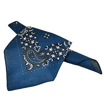 Ties Planet Navy Blue, White & Black Paisley Patterned Bandana Neckerchief