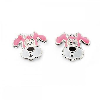 Beginnings Sterling Silver Enamel Dog Stud Earrings A2021