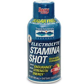 Trace Minerals Elektrolyt Uthållighet Shot Berry Smak, 2 Oz