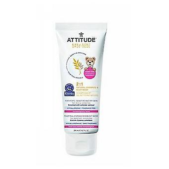 Attitude Følsomme Hudpleje 2-I-1 Natural Shampoo Body Wash - Baby, 6,7 Oz
