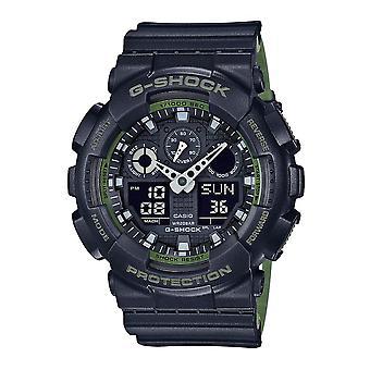 Casio G-Shock Watch GA-100L-1AER - Resin Gents Quartz Analogue - Digital