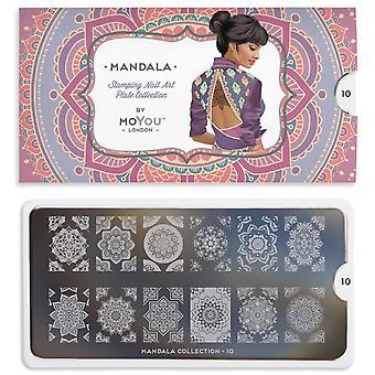 MoYou London Nail Art Image Plate - Mandala 10 (mpman10)